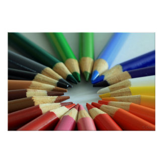 Color Chart Wheel Poster