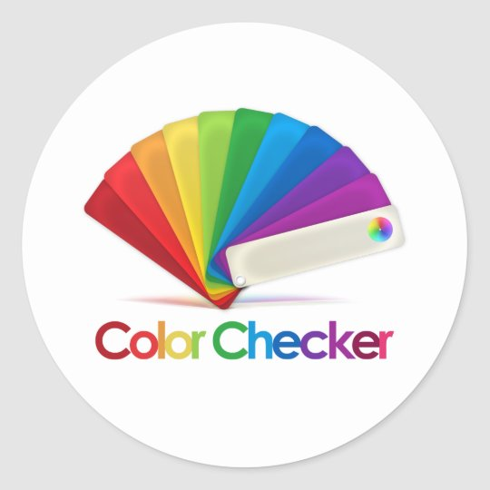 Color Checker Classic Round Sticker
