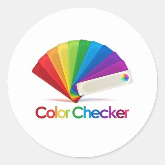 Color Checker Classic Round Sticker