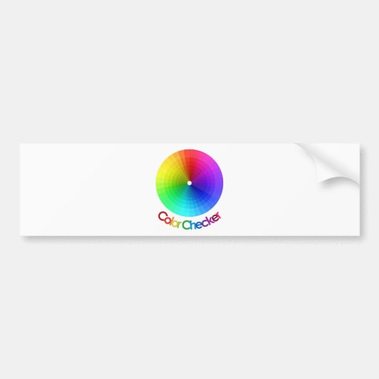 Color Checker Spectrum Bumper Sticker