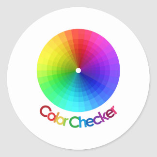 Color Checker Spectrum Classic Round Sticker