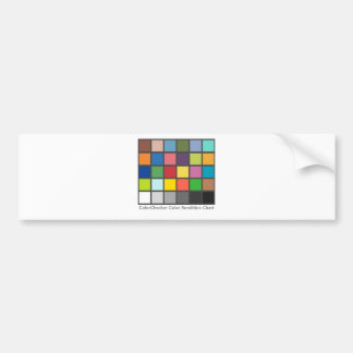 Color Checker Table Bumper Sticker