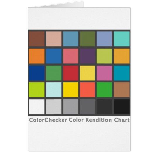 Color Checker Table Card
