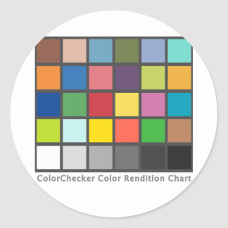 Color Checker Table Classic Round Sticker