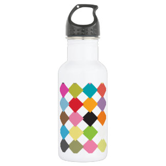 Color checkers stainless steel water bottle