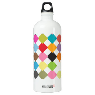 Color checkers water bottle