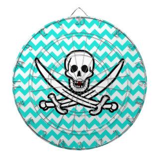 Color Chevron de la aguamarina; Bandera alegre de  Tablero Dardos