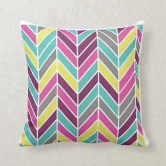 Color chevron travesseiro de decoração