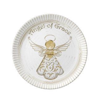 Color Choice: Christmas Angel of Grace Sunbeams Porcelain Plate