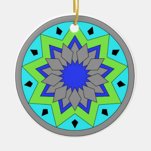 color circle Double-Sided ceramic round christmas ornament