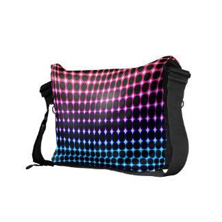Color Circle Pattern Messenger Bag