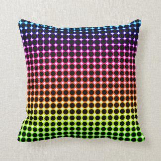 Color Circle Pattern Pillow