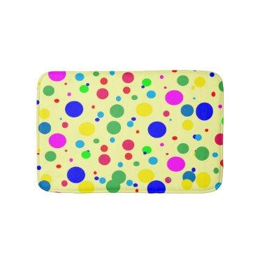 Color Circle Polka Dot Bubbles Bath Mats