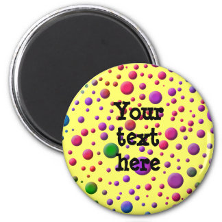 Color Circles 2 Inch Round Magnet