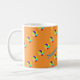 Color circles Add name mugs