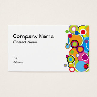 Color Circles Business Card white
