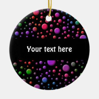 Color Circles Ceramic Ornament