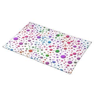 Color Circles Cloth Placemat