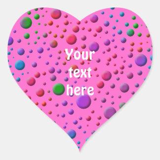 Color Circles Heart Sticker