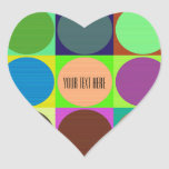 Color Circles in Squares Heart Sticker