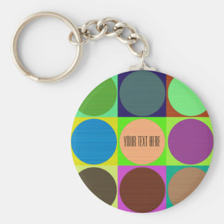 Color Circles in Squares Keychain