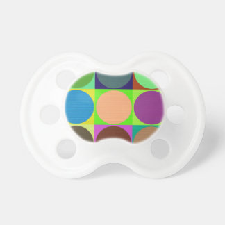 Color Circles in Squares Pacifier