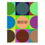 Color Circles in Squares Postcard
