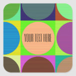 Color Circles in Squares Square Sticker