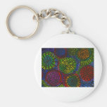 Color circles key chain