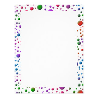 Color Circles Personalized Letterhead