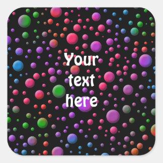 Color Circles Square Sticker