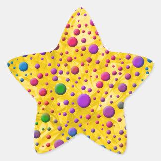 Color Circles Star Sticker