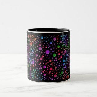 Color Circles Two-Tone Coffee Mug