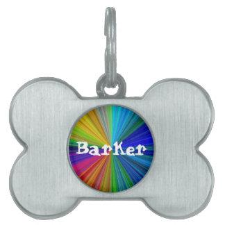 Color Circular Rainbow Array 1 Pet Name Tag