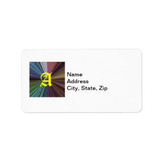 Color Circular Rainbow Array 2 Label