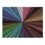 Color Circular Rainbow Array 2 Postcard
