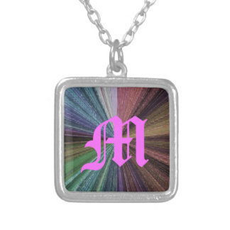 Color Circular Rainbow Array 2 Silver Plated Necklace