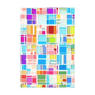 Color City from Above Stretched Canvas Prints