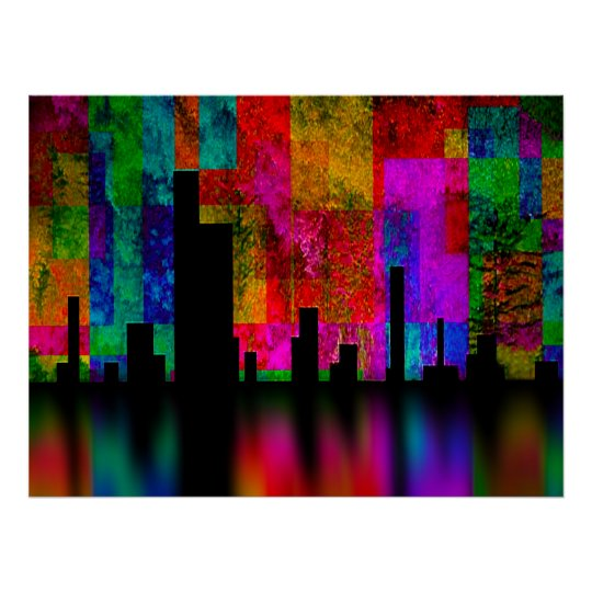 Color City Vibrance Poster