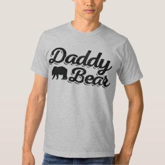Color claro del oso del papá remeras