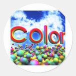 color classic round sticker