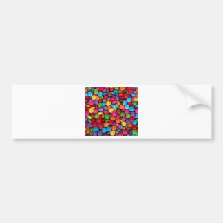 Color Coated Candy Bumper Sticker