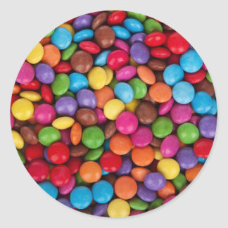 Color Coated Candy Classic Round Sticker