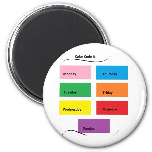 Color Code It - CricketDiane Designer Stuff Fridge Magnet