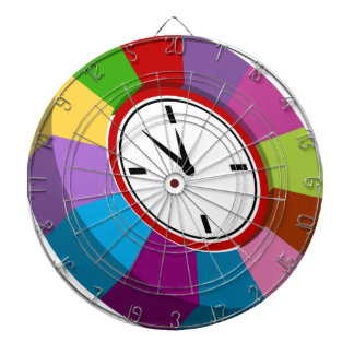 Color Coded Business Chart Clock Dartboards
