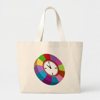 Color Coded Business Chart Clock Large Tote Bag