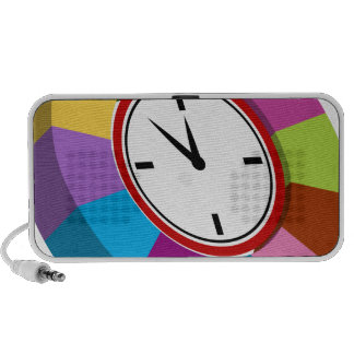 Color Coded Business Chart Clock Travelling Speaker
