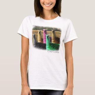 Color coded llamas T-Shirt