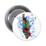 Color Coded Manhattan Map 2 Inch Round Button