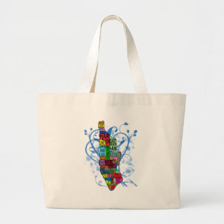 Color Coded Manhattan Map Tote Bag